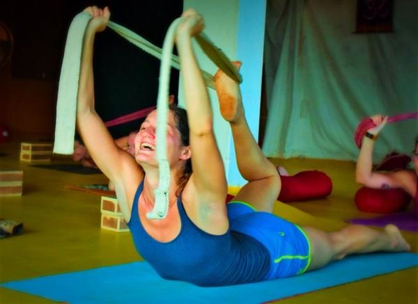 Bow Pose during a Backbending Workshop