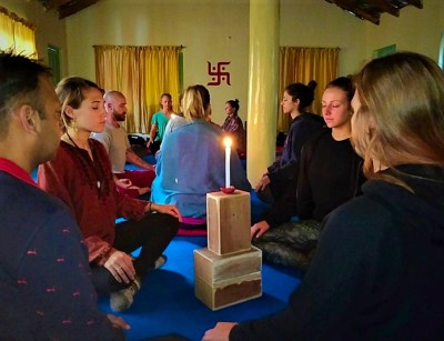 Yoga Teacher Training India - Candlelight Meditation