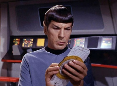 Mr. Spock with an E6B