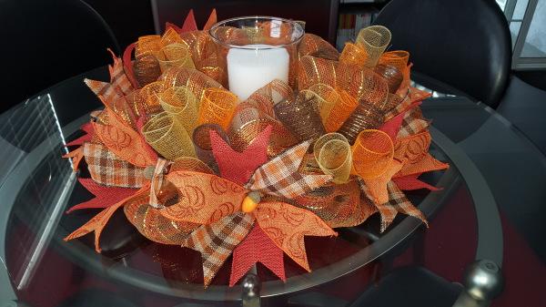 Autumn Candle Wreath