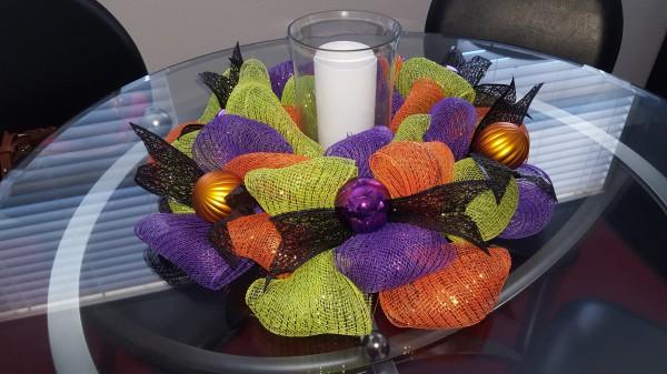 Halloween Candle Wreath