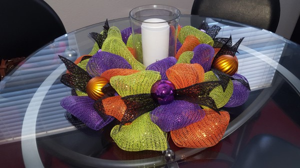 Halloween Candle Wreath