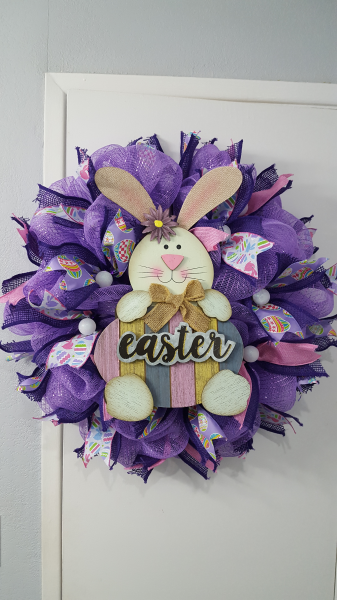 Lavender Welcome Bunny