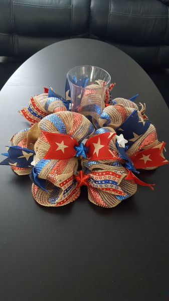 Americana Candle Wreath