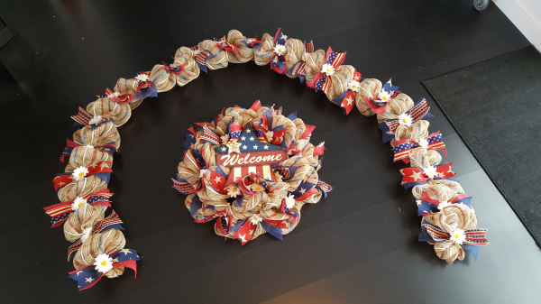 Americana Garland and Wreath