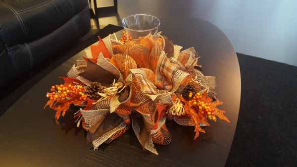 Fall Centerpiece Org/Brwn