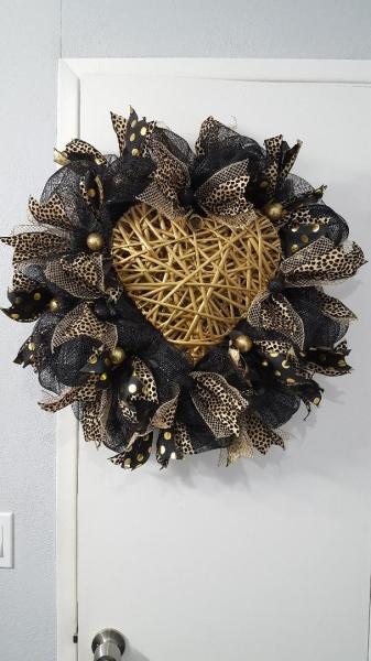 Black and Gold Heart