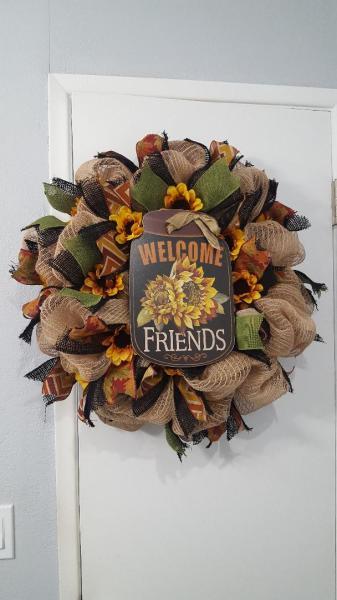 Welcome Friends Mason Jar