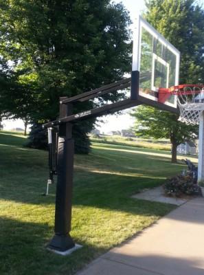 Basketball Goal Installation