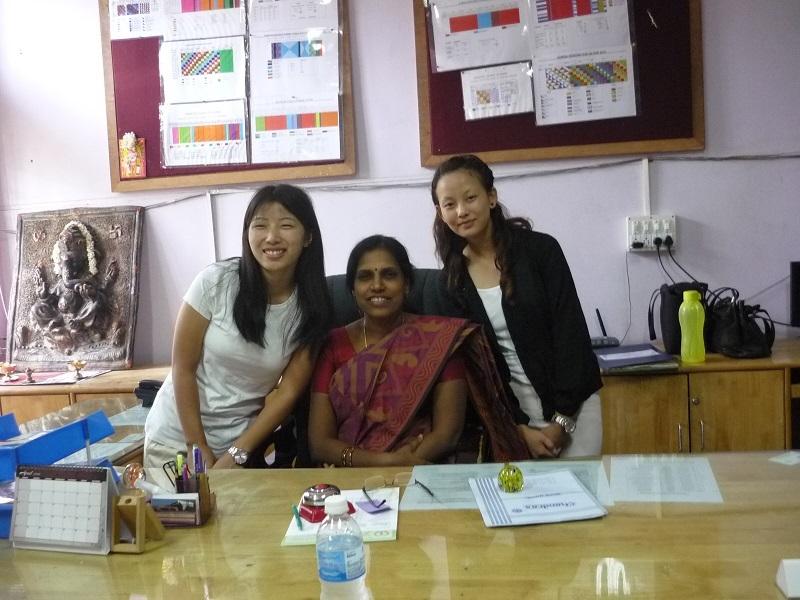 2016: Nimphuti and Sarda at Karnataka Nursing College, Bangalore