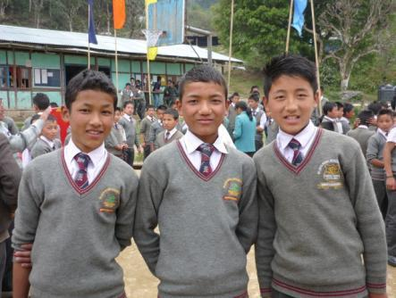 2013: SHA boys now at the Tribal School, Tashiding