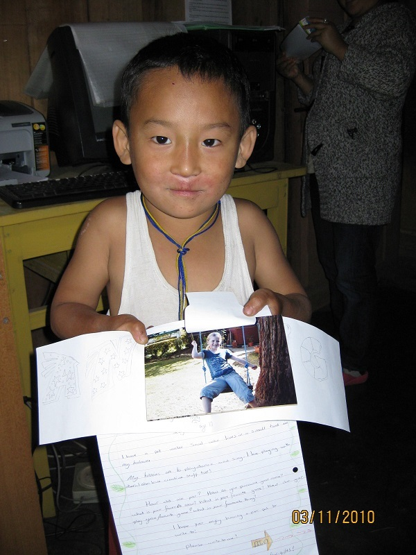 2010: Anurag with a letter from Molly