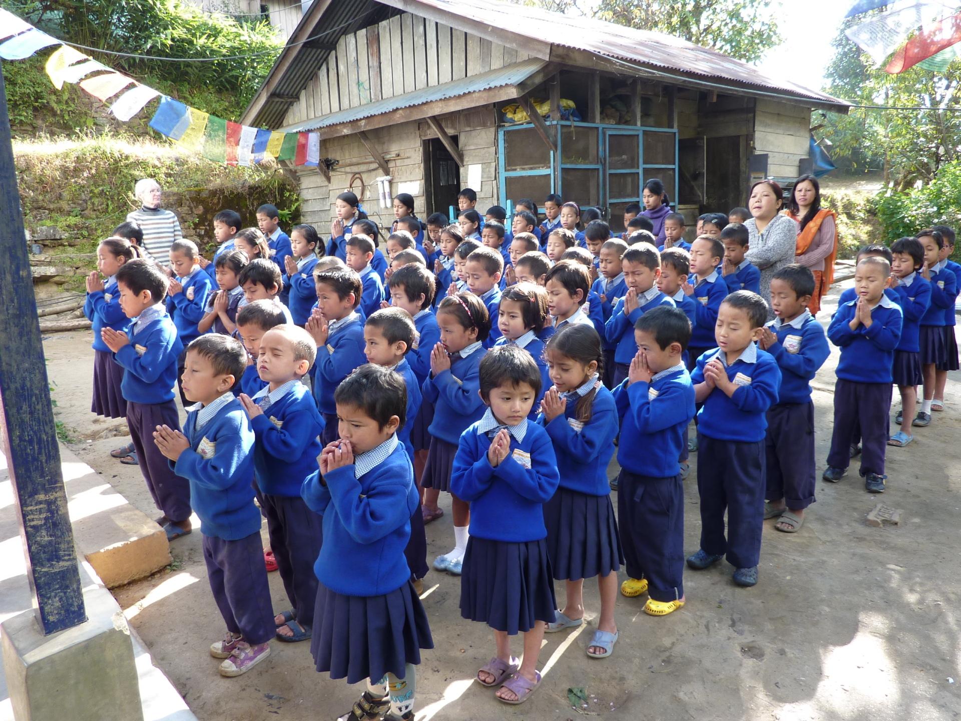 2010: Assembly at Sikkim Himalayan Academy