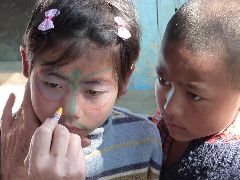 2010: Face painting at SHA