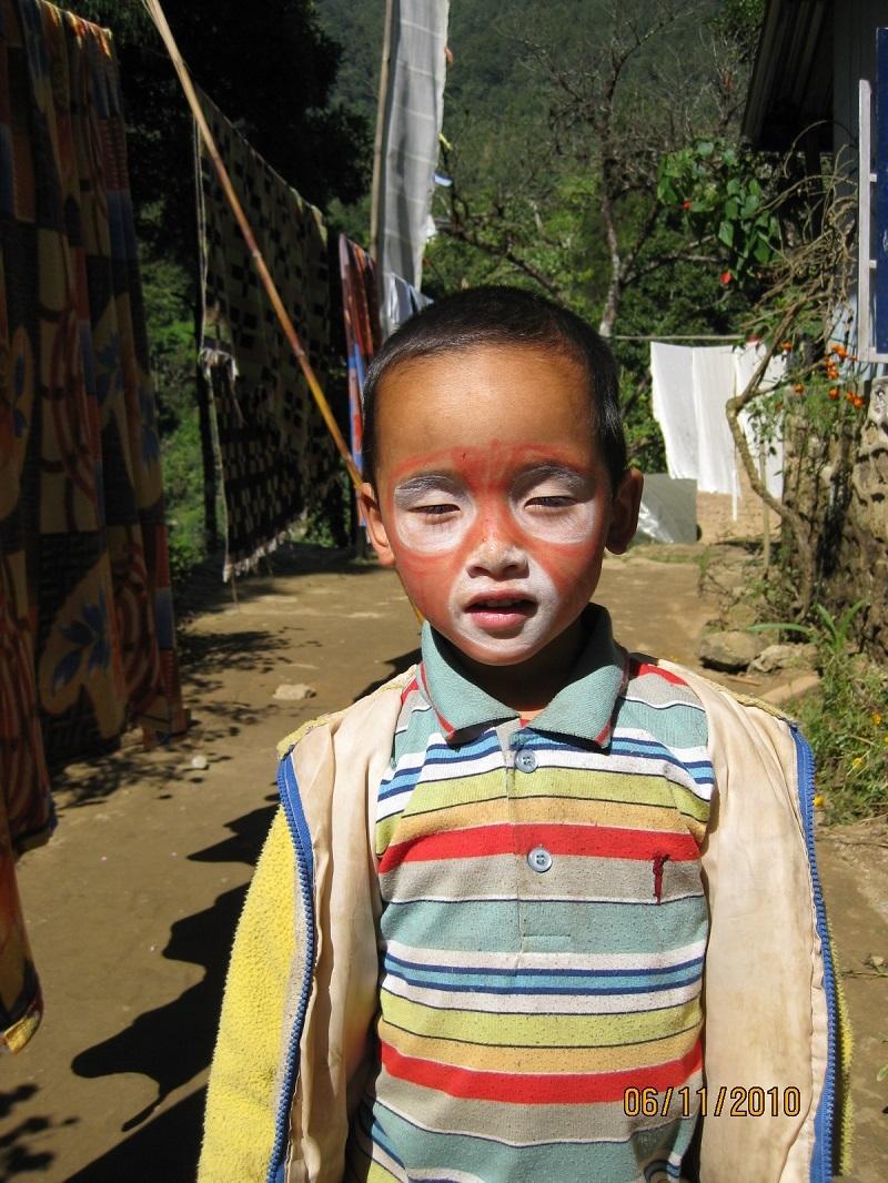 2010: Phurba in face paint