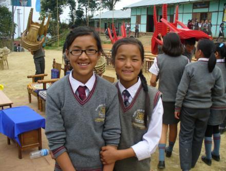 2013: SHA girls now at the Tribal School, Tashiding