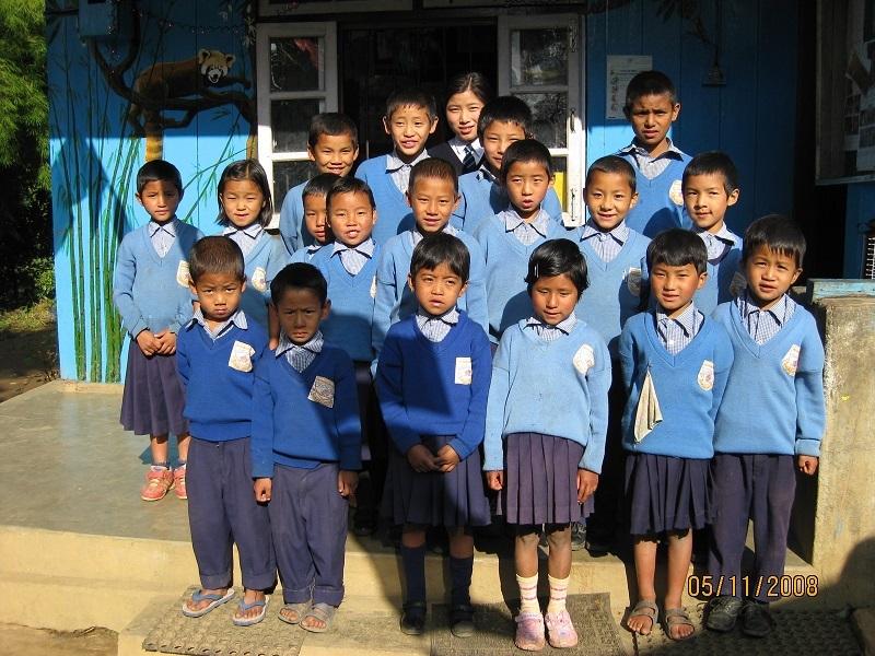 2008: UK sponsored children at Sikkim Himalayan Academy