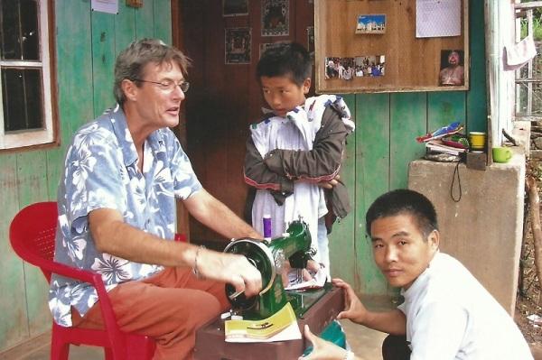 2006: Peter brings a sewing machine