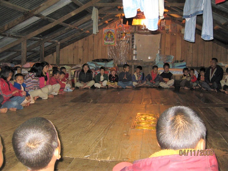2008: Evening prayers in the dormitory at SHA