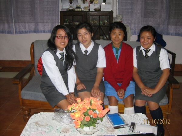 2012: The girls at Dr Graham's Homes school, Kalimpong
