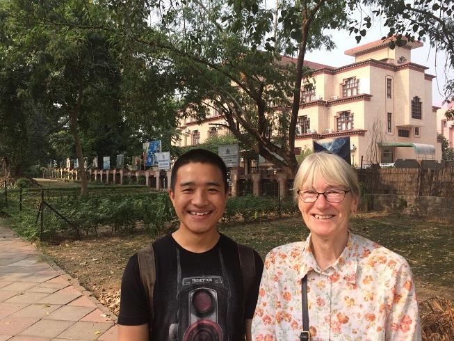 2017: Samjyor and Magi at New Sikkim House, Delhi