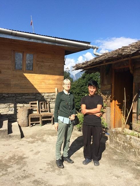 2017: With Sangdup at Lingthen Lyang Homestay, 4000m