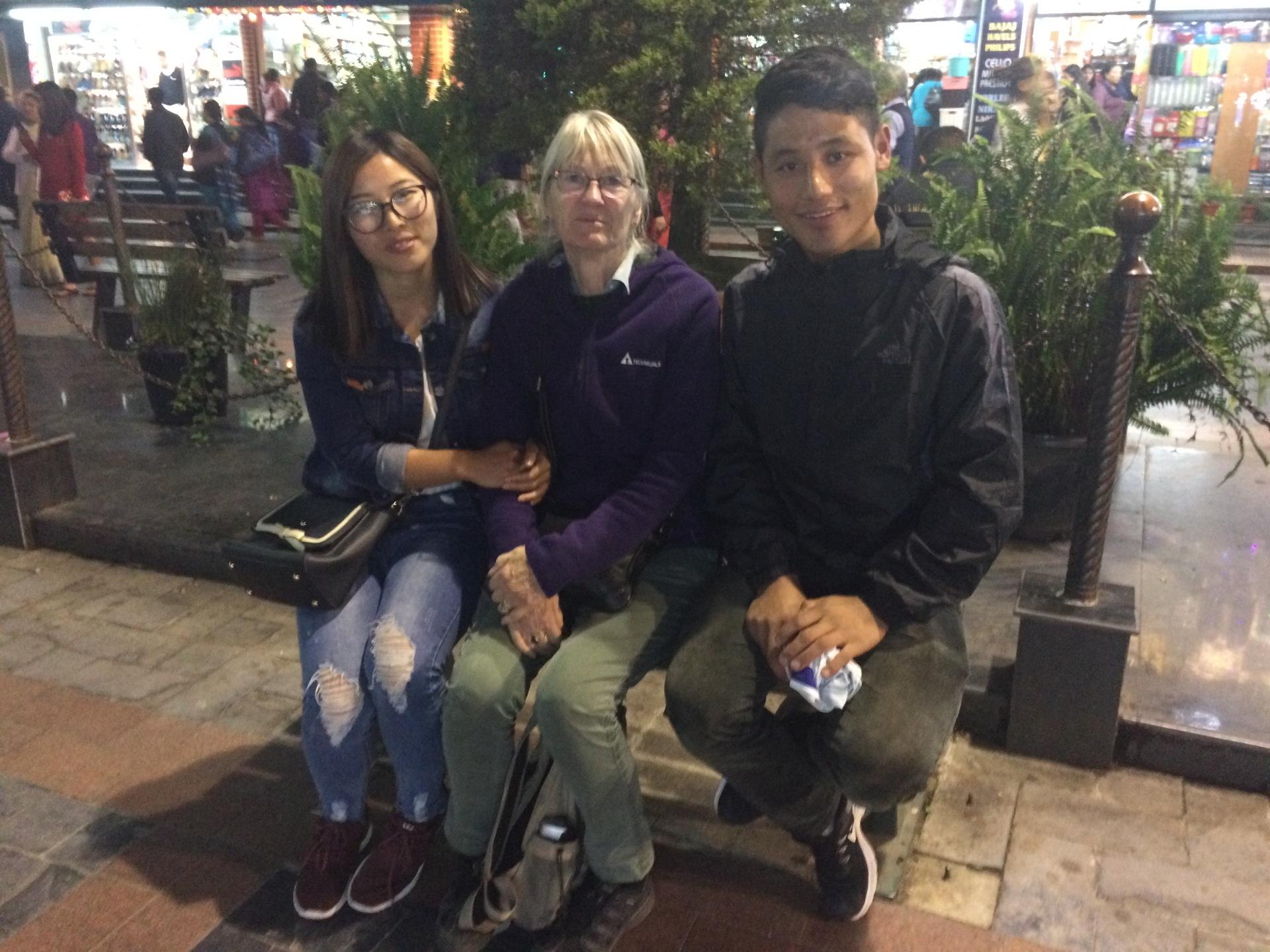 2017: Nimphuti and Nedup with Magi in Gangtok