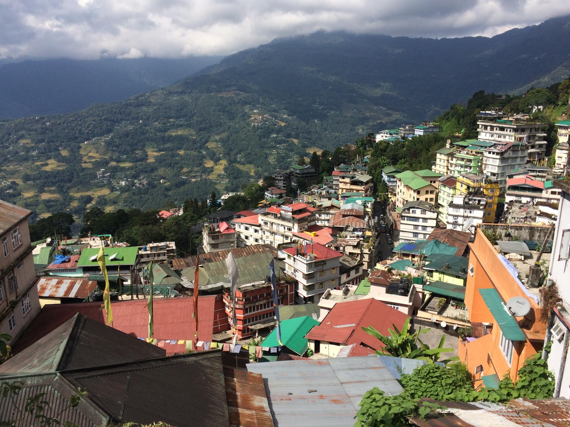 2017: View of Gangtok