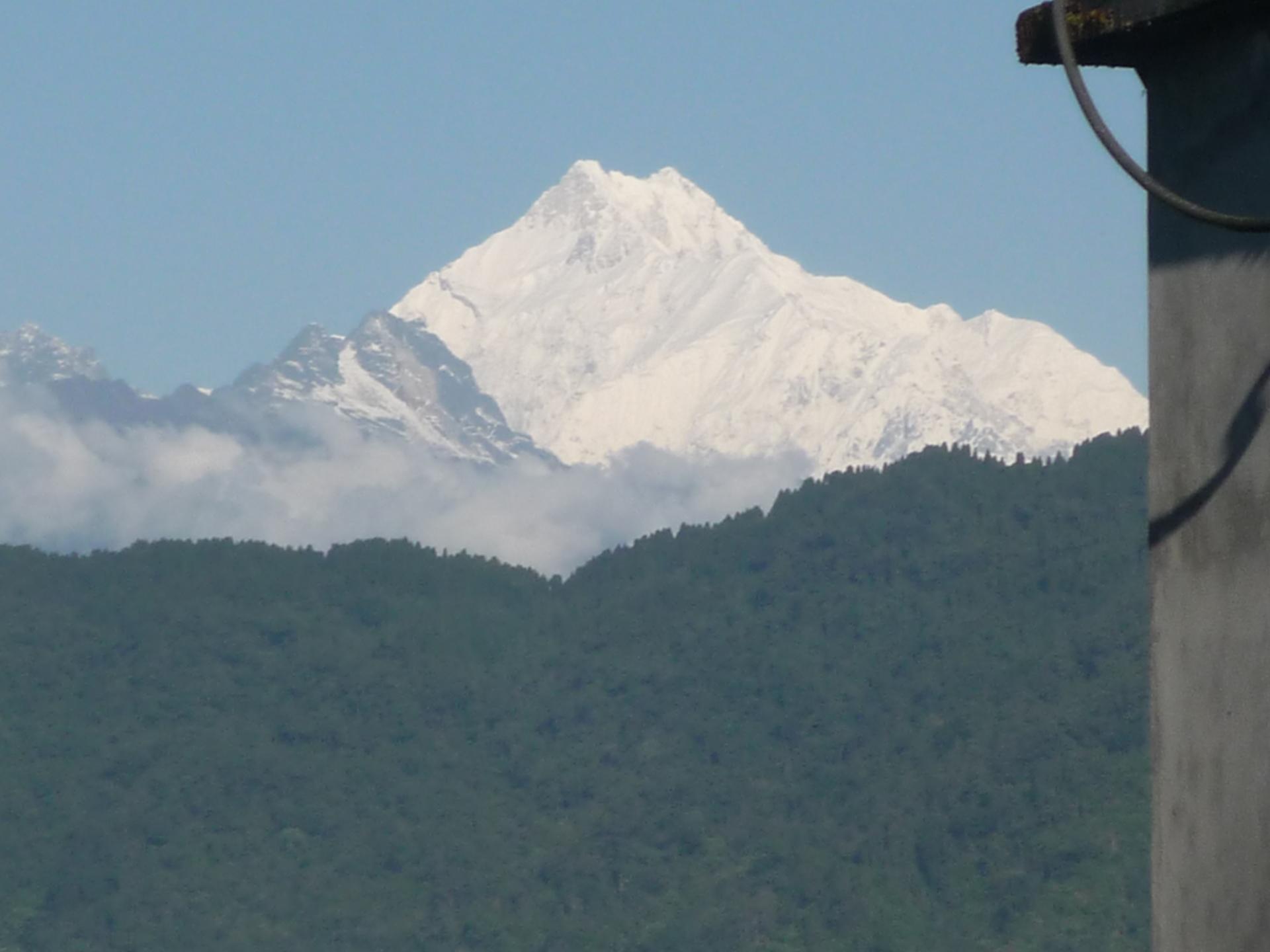 2017: Kanchenjunga from the hotel, Gangtok