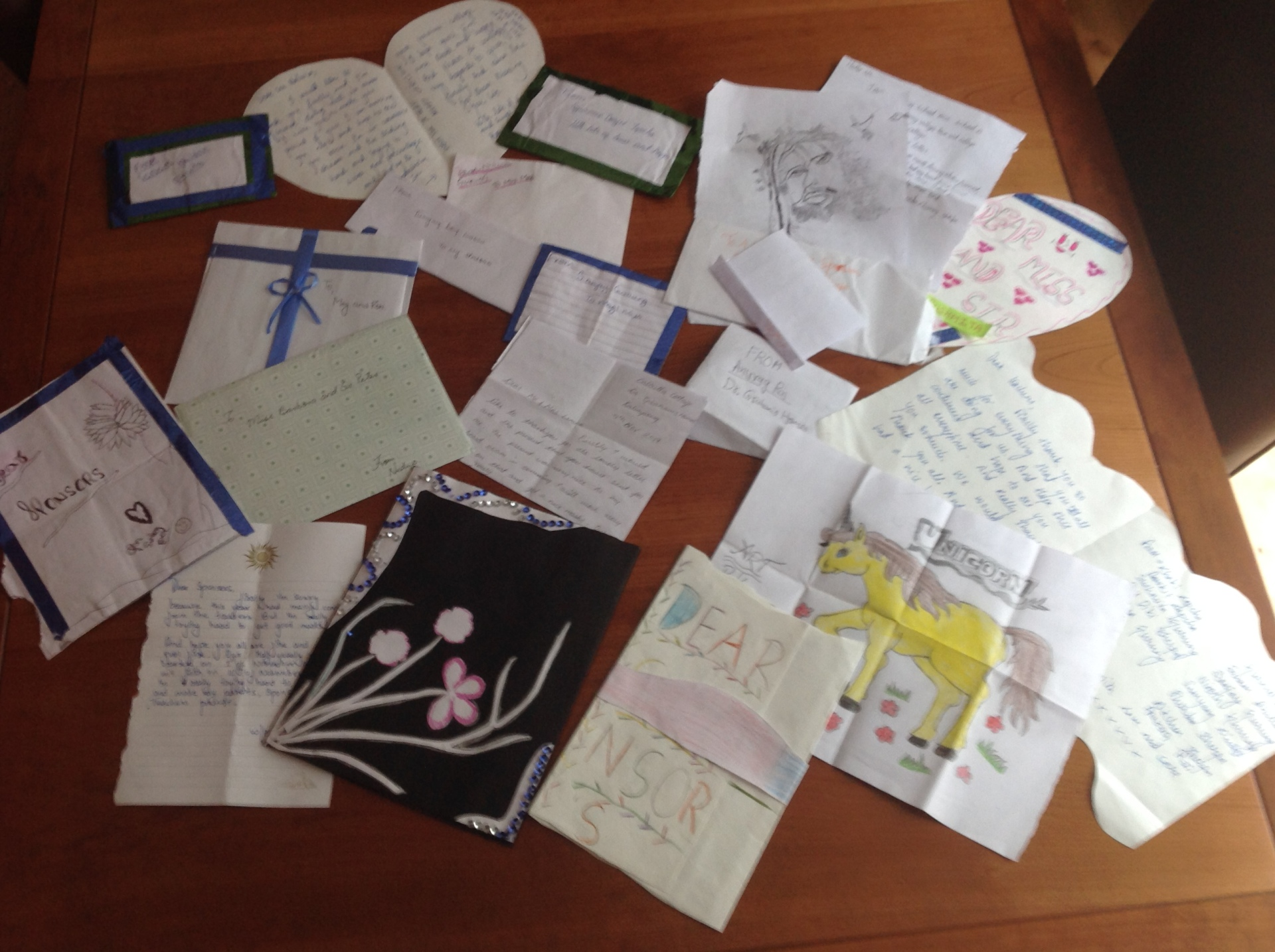 2017: The childrens' letters to sponsors
