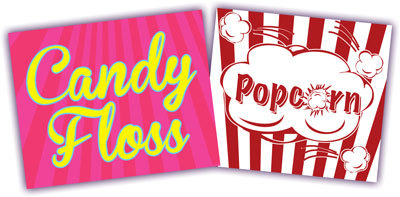 Popcorn, Candyfloss, Sweets