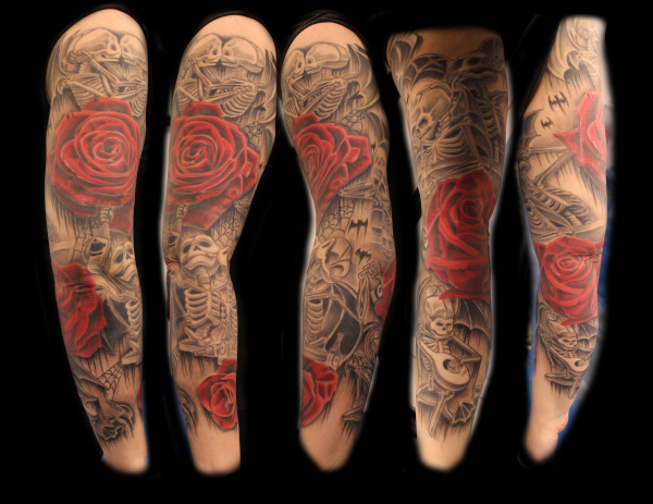 black and red sleeve