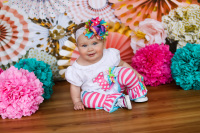 little girl with big colorful bow oklahoma city photographer