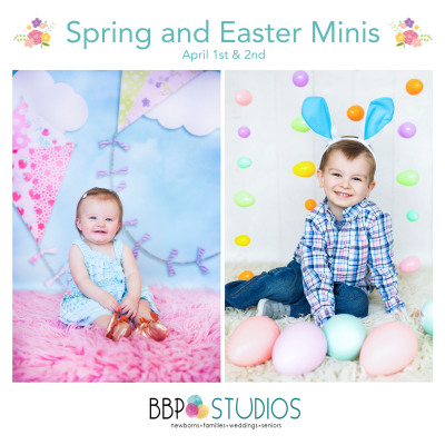 Spring & Easter Minis at BBP Studios in Edmond | Oklahoma City Photographer March 2017