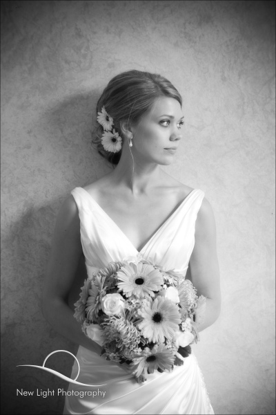 Black & White bridal portrait