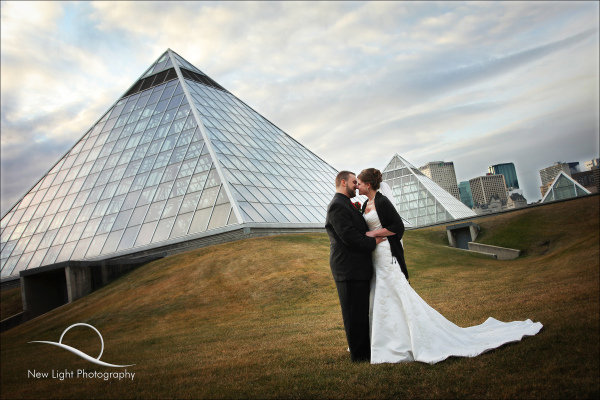 Muttart Conservatory wedding photo