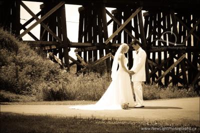 Trestle Bridge Wedding Photo