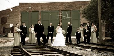 Edmonton Streetcar Wedding Photo