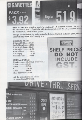 Prices from a bygone era