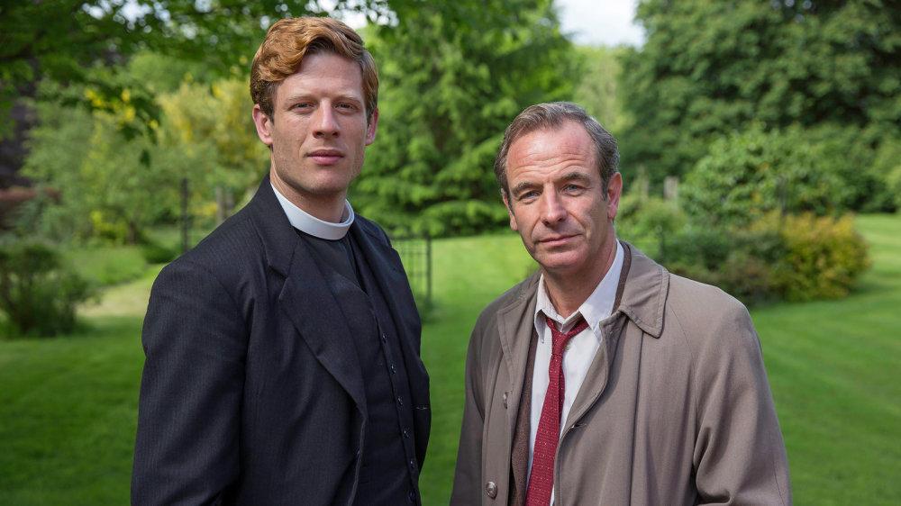 Rev. Sidney Chambers (James Norton) and Inspector Geordie Keating (Robson Green)