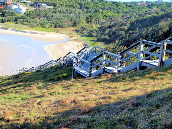 beach, sand, lookout, stairs, landscape, photogrophy