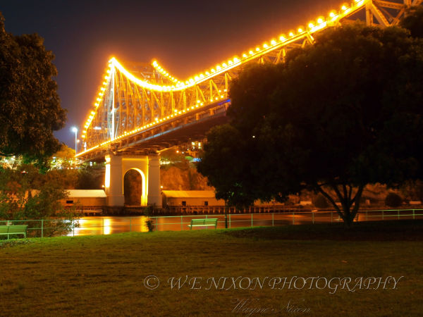 brisbane city, river storey bridge, reflections, water, city lights, landscape, photography, long exposure