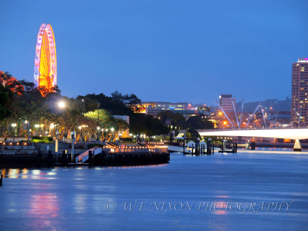 brisbane river, southbank, brisbane wheel, landscape, longexposure, photography