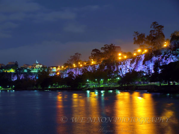 kangaroo point cliffs, night scenes, brisbane city, river, reflections, landscape, long exposure, photography