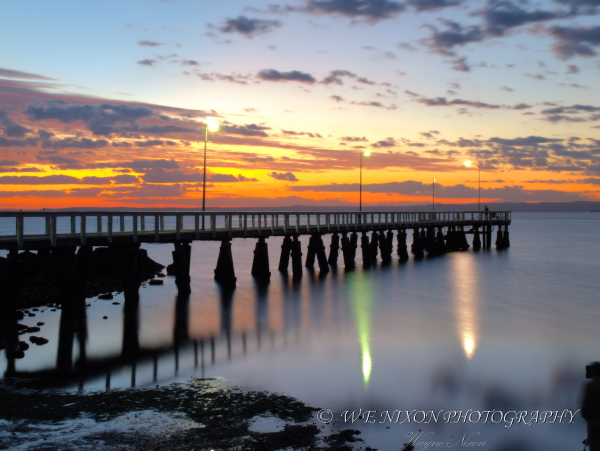 jetty, sunrise, reflections, landscape, long exposure, photography