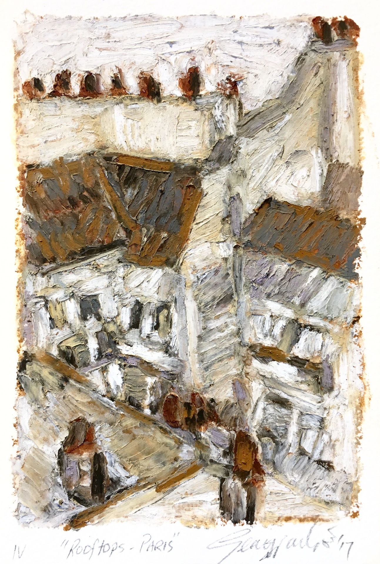 Rooftops Paris IV (SOLD)