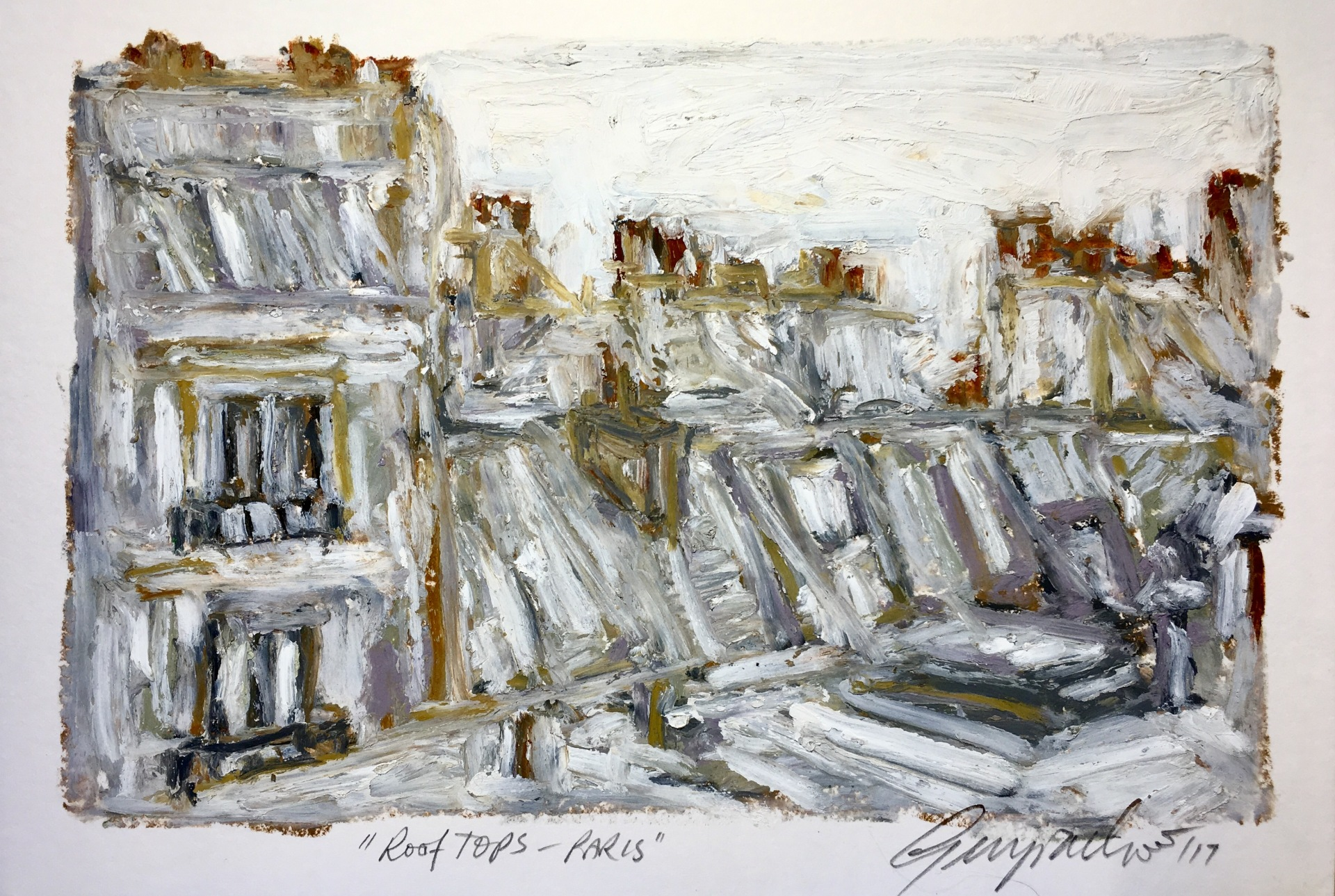 Rooftops Paris (SOLD)