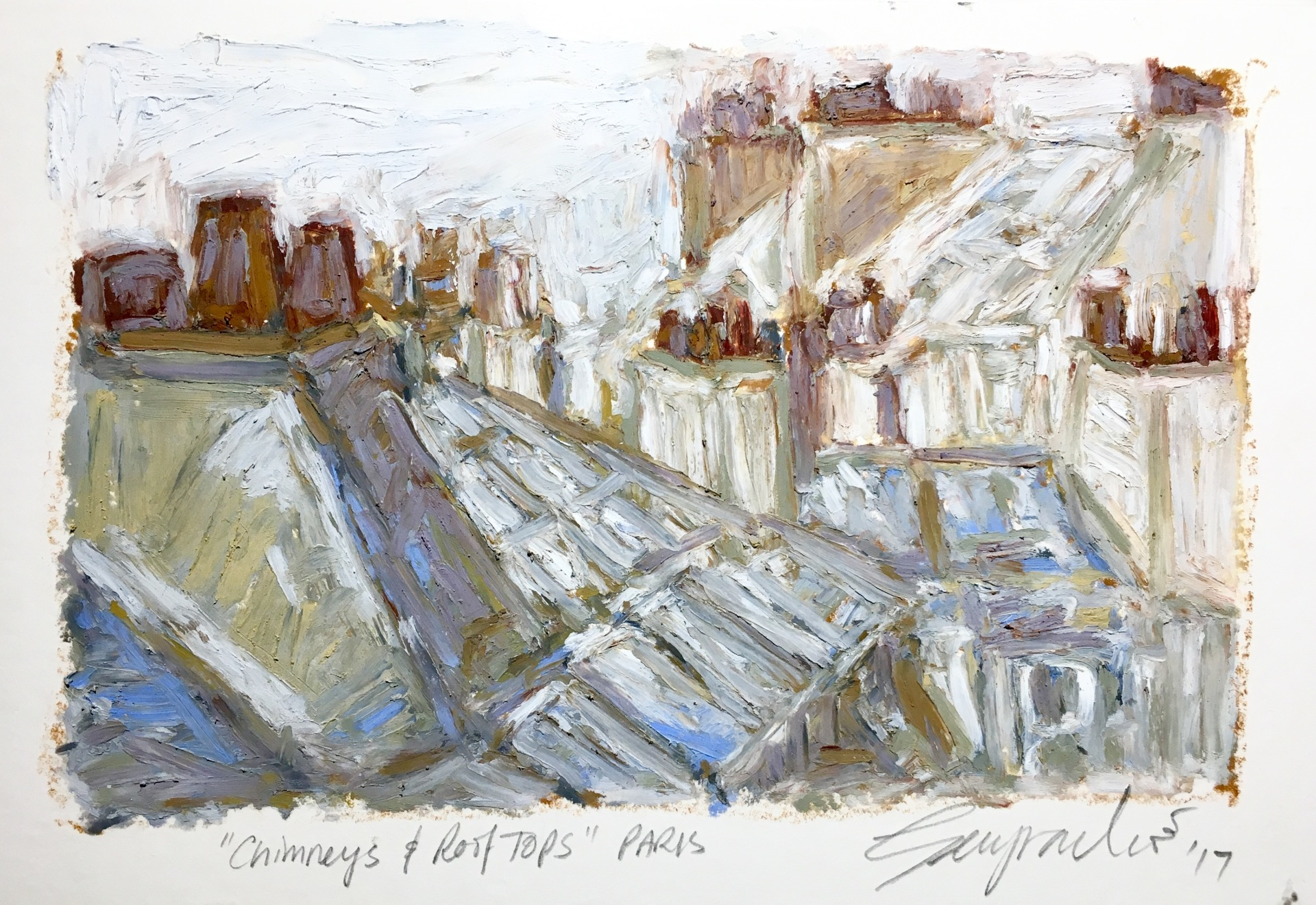 Chimneys & Rooftops Paris (SOLD)