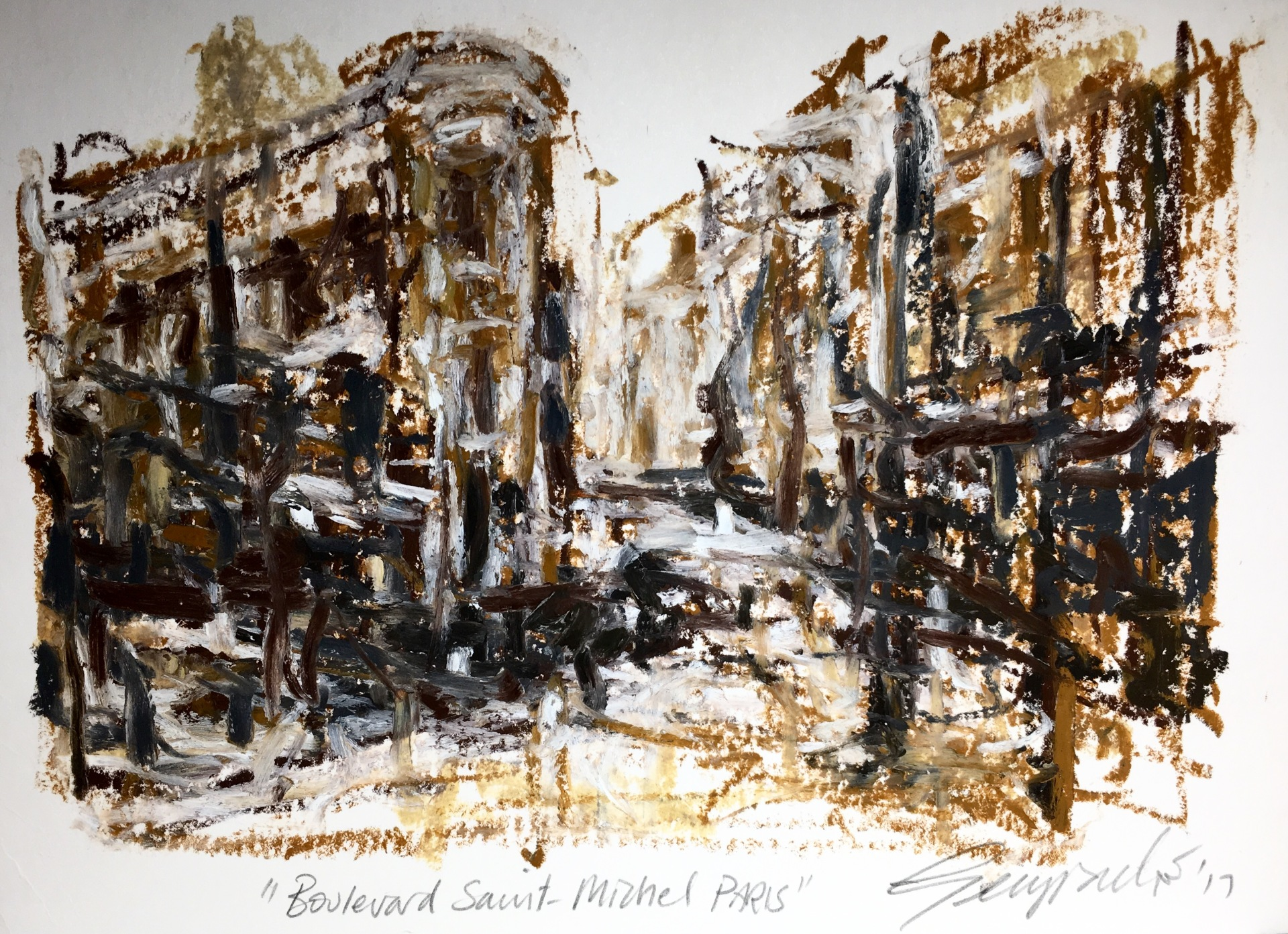 Boulevards Saint Michel Paris (SOLD)