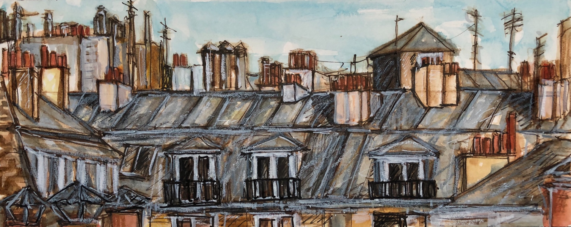 Rooftop View from Rue Titon Paris (SOLD)